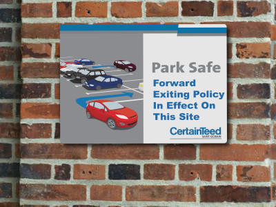 "18"" x 12"" Parking Sign for Certainteed"