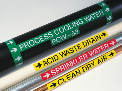 3M vinyl adhesive pipe markers.