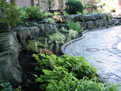 Armour stone creates a solid foundation for planting