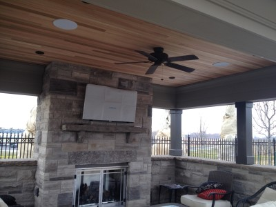 "Sunbrite Outdoor 46"" TV in a Cabana"