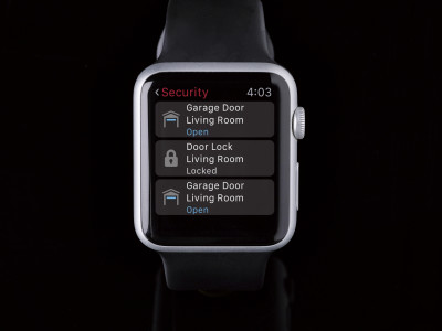 Apple Watch with Control4 App