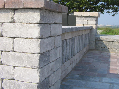 Seat walls add vertical height to any patio