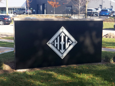 Monument sign with Aluminum cut logo.