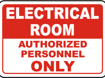Electrical room signs.