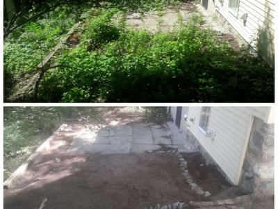 Reclaiming an old patio (Reading, MA)