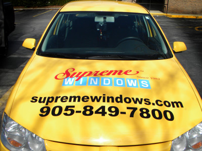 Vehicle lettering.