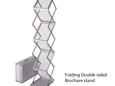 2 sided brochure display stand with aluminum case.
