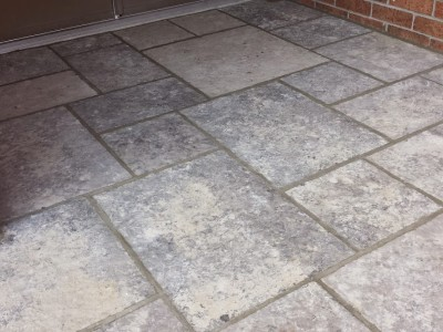 Eble grey flagstone porch