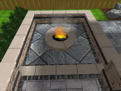 Fire features add ambiance