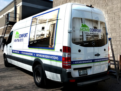 Mercedes sprinter van vinyl graphics.