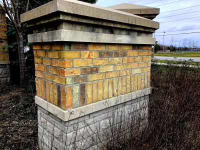 Brick, Natural stone Mixture