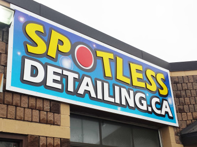Acrylic letters on fascia sign.