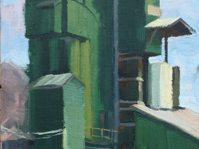 Green Monster 8X16 | oil on panel | $600.00