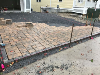 During - Permeable driveway (Bedford, MA)