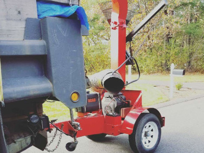 Our leaf vac and box truck help us move through fall and spring cleanups with ease