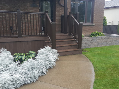 PVC decking, with composite railing, gives you this lifetime deck, zero maintenance