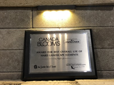 Canada Blooms 2020 award winner
