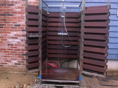 Completed - Outdoor shower (Groveland, MA)