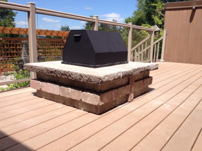 Gas fire feature are perfect for the deck