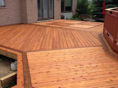Cedar Deck with Cutek wood preserver