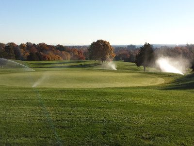 Running one of our systems on a golf course!