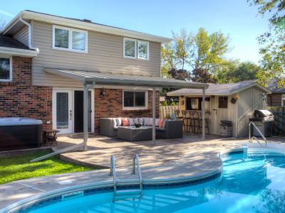 Pool bar & patio cover