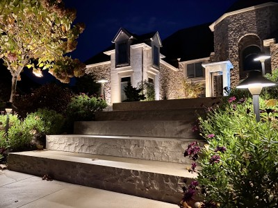 Step Lighting Natural Stone Indian Coast Uplights and Pathway Lights