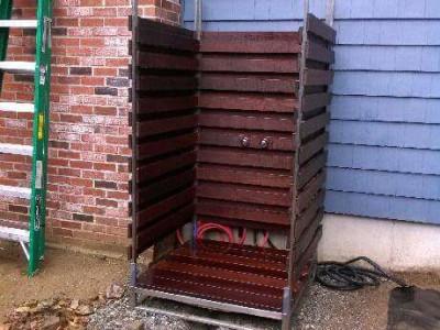 During - Building an outdoor shower (Groveland, MA)