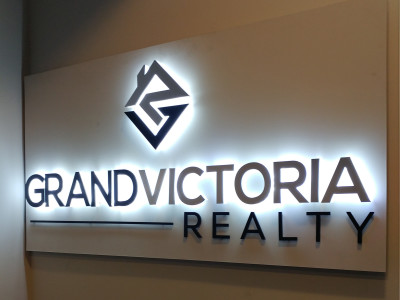 3 dimensional LED lit reception sign, installed in Waterdown, Ontario.