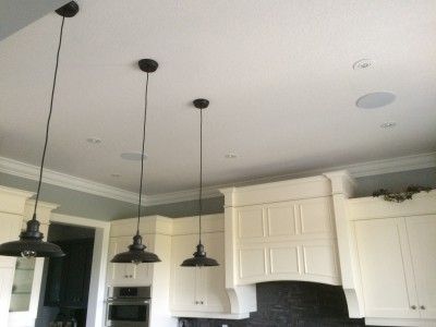 "6.5"" Current Audio In-Ceiling Speakers in the Kitchen"