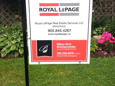 Metal Real Estate Sign Frame