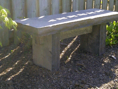 Eble dark stone bench