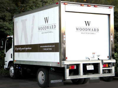 Fleet truck graphics, installed in Oakville, Ontario.