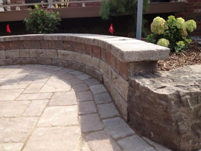 Add texture with a natural stone