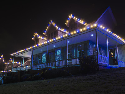 Holiday Lighting Custom Color, Blue and Warm White
