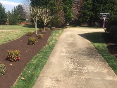 no mulch on driveway