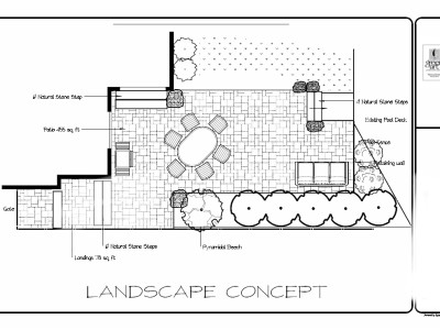 Ensure your landscape design allows for all your outdoor living furniture