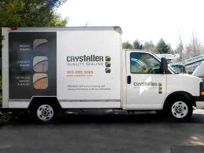 Cube van graphics.