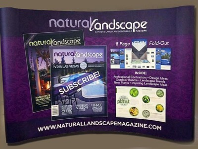 Natural landscape 10ft x 8ft pop up system