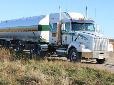 Western star truck hauling a 5 axle SPIF trailer