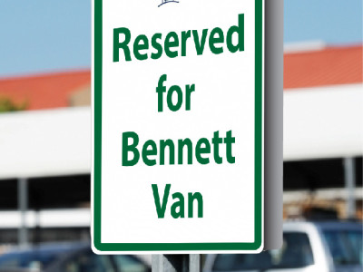 Custom Parking Sign for Bennett Village - Georgetown Ont