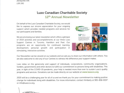Luso Canadian Charitable Society Mississauga (2019)