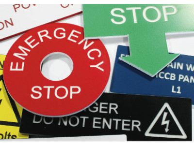 Engraved Lamicoid Signs, Engraved Safety Signs, Electrical Labels.