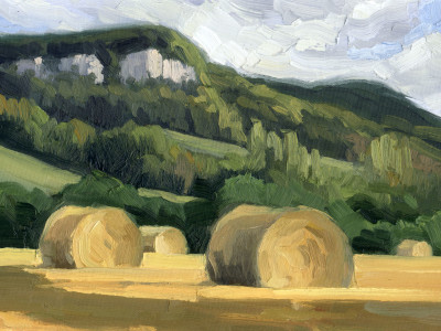 Bales below Escarpment 9X12 | oil on panel  |  SOLD