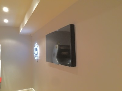 "Games Room 42"" TV Mounted"