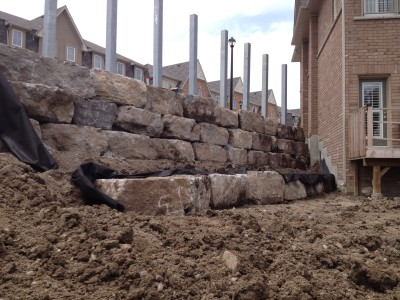 Got a large natural stone wall project talk to our team