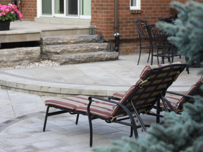 Three levels create multiple gathering points in your backyard space