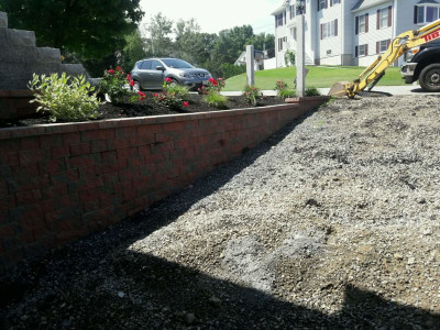During - Heated driveway install (Woburn, MA)