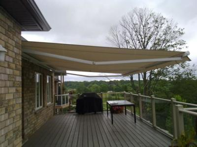 Big Awnings are our Specialty Up to 23' x 23' and maybe bigger if you need it!