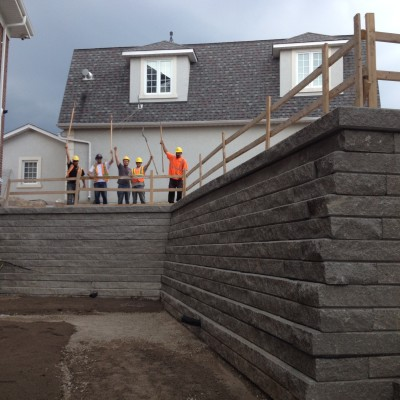 Our team is ready to tackle your large block retaining wall project